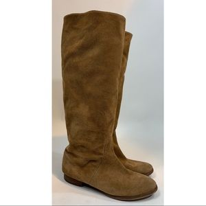 J crew tall suede slouch riding boots size 8.5